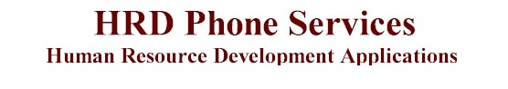 HRD phone services notifications